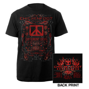 Chickenfoot 2012 Different Devil Tour Tee
