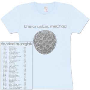 Light Blue Womens Speaker Logo Faded Tour T-Shirt