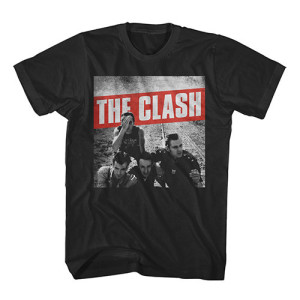 The Clash Black/White Combat Rock T-shirt
