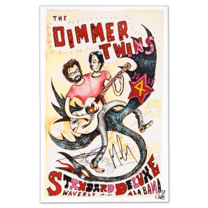 The Dimmer Twins - July 4, 2013 Waverly, AL Autographed Poster