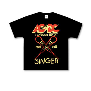 AC/DC - Kids Black Tee - I Wanna Be A Rock 'n' Roll Singer