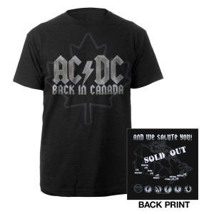 AC/DC - Black Ice Summer Tour Canada Event T-Shirt