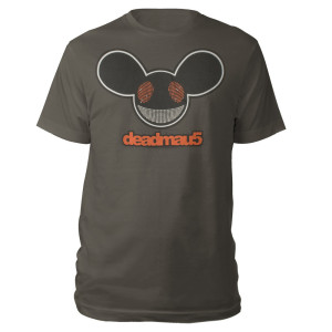 deadmau5 Red, Black and White Mau5head Logo Tee