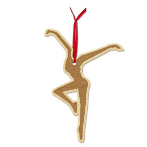 Firedancer Wooden Ornament