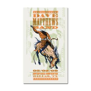 DMB Dallas, TX 05/02/09 Show Poster