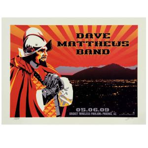 DMB Phoenix, AZ 05/06/09 Show Poster