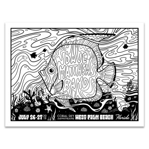 DMB West Palm Beach Coloring Poster