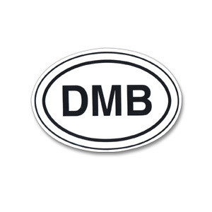DMB Oval Sticker