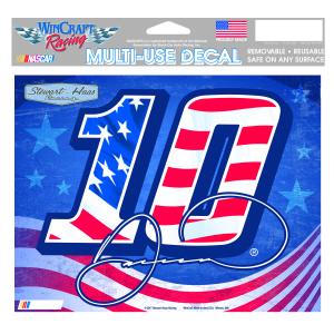 "Danica Patrick #10 Patriotic Multi-Use Decal - 5"" x 6"""