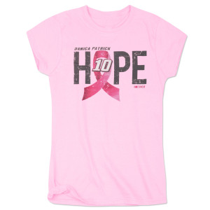 Danica Patrick #10 Ladies Breast Cancer Awareness Hope T-Shirt