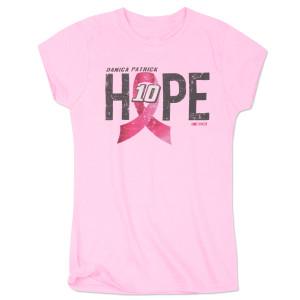 Danica Patrick #10 Ladies Breast Cancer Awareness Hope T-Shirt
