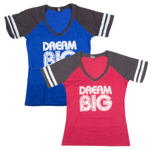 DREAM BIG Ladies Jersey T-shirt
