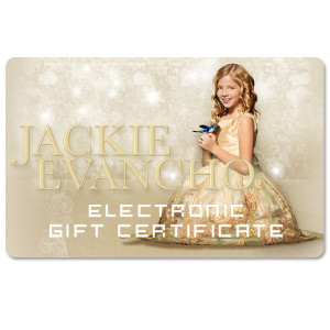 Jackie Evancho Electronic Gift Certificate