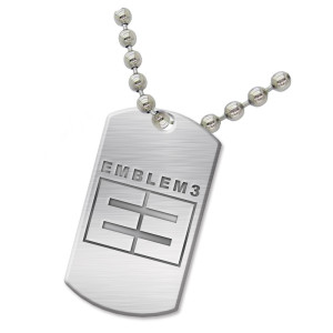 Emblem3 Logo Dog Tag Necklace