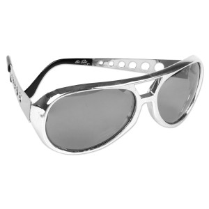 Elvis 1970s Silver Sunglasses