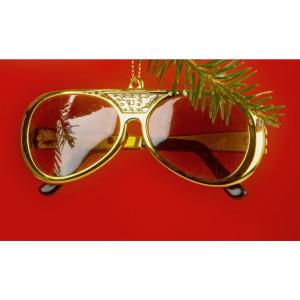 Elvis 70's Sunglasses Ornament
