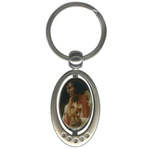 Elvis Aloha Spinner Key Chain