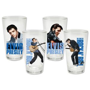 Elvis 35th Anniversary Memories 4 pc. Glass Set