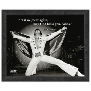 Elvis Til We Meet Again Framed Quote