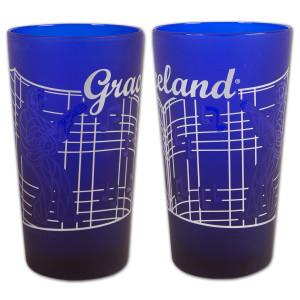Graceland Gates Frosted Cobalt Pint