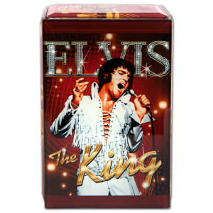Elvis The King Glass Music Box