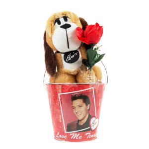 Elvis Presley - Valentine's Hound Dog Plush Tin Can