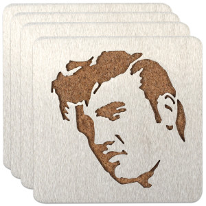 Elvis Silhouette Coasters