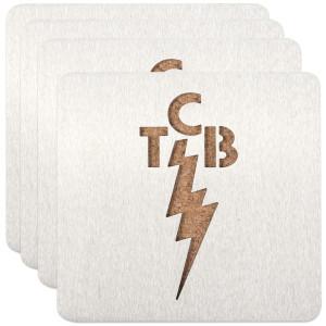 Elvis TCB Coasters