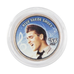 "Elvis Presley ""Blue Suede Shoes"" Colorized State Quarter Coin"