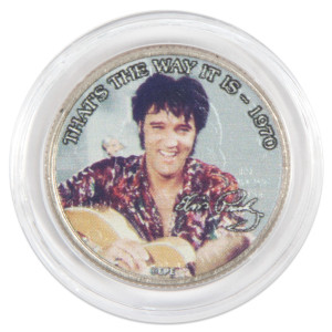 "Elvis Presley ""That's The Way It Is"" Colorized State Quarter Coin"