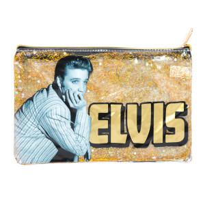 Elvis Presley Gold Foil Makeup Bag