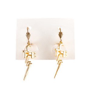Gold Plated TCB Earrings