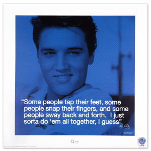 "Elvis iQuote All Together 16"" x 16"" Print"