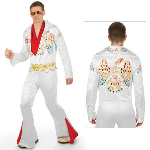Elvis Adult Deluxe Jumpsuit Costume