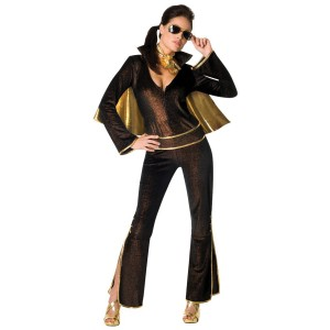 Elvis Women's Jumpsuit Costume - Black