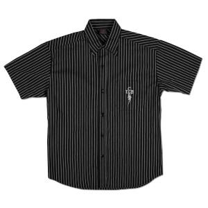 Elvis TCB Pinstripe Button Down Shirt