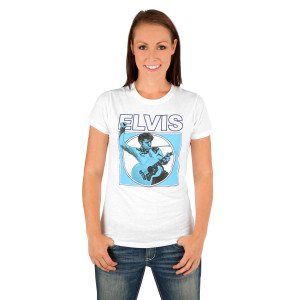 Elvis Guitar Square Women's T-Shirt