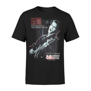Elvis - Comeback '68 Special 50th Anniversary Black T-shirt