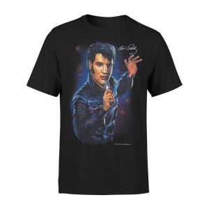 Elvis - '68 Comeback Special Signature Black T-shirt