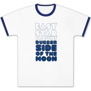 Dubber Side of the Moon White/Navy Ringer T