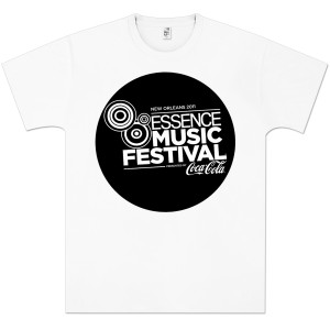Essence Music Festival Men's Black Bubble Logo Tee
