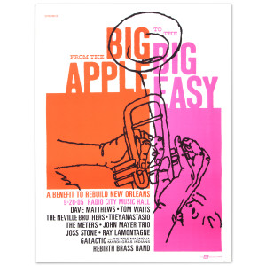 Bonnaroo - Big Apple to the Big Easy Benefit Poster – Radio City Music Hall