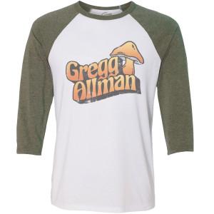 Gregg Allman Mushroom Baseball T-Shirt
