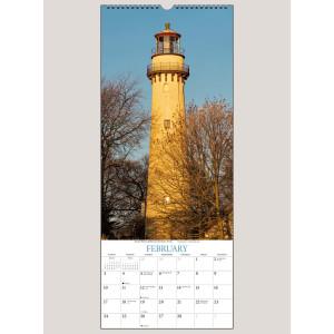 """2019 Lighthouses 9"""" x 22"""" VERTICAL WALL CALENDAR"""