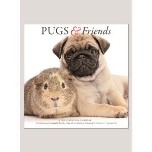 """2019 Pugs & Friends 12"""" x 12"""" WALL CALENDAR"""