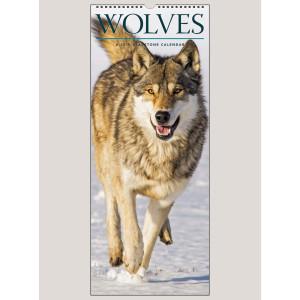 """2019 Wolves 9"""" x 22"""" VERTICAL WALL CALENDAR"""