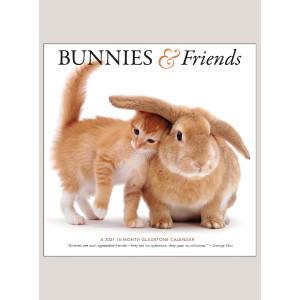 """2021 Bunnies & Friends 12"""" x 12"""" WALL CALENDAR"""