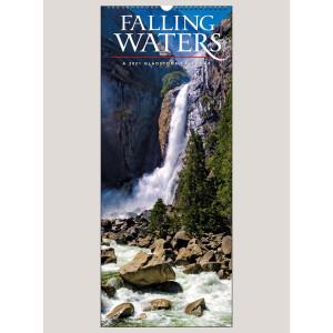"2021 Falling Waters 9"" x 22"" VERTICAL WALL CALENDAR"