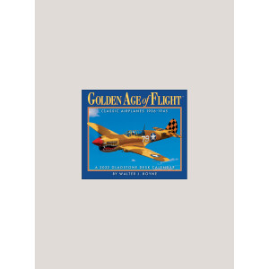 """2022 Golden Age of Flight 5.25"""" x 4.25"""" PAGE PER DAY CALENDAR"""