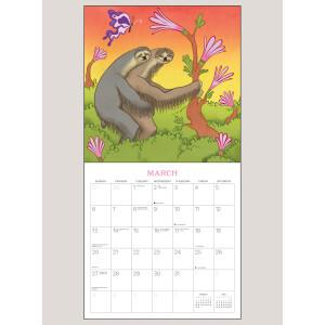 "2022 Kama Sutra Sloths 12"" x 12"" WALL CALENDAR"